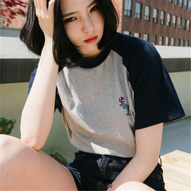 2018-Korean-summer-ulzzang-Harajuku-Dolphin-Embroidered-t-shirt-women-short-sleeve-woman-T-shirt-small.jpg_640x640