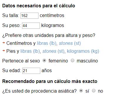 calculo momo